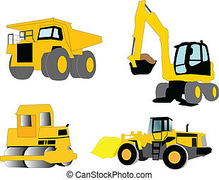 construction machine - illustration of construction machine...