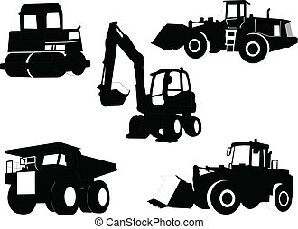 construction machine collection - illustration of...