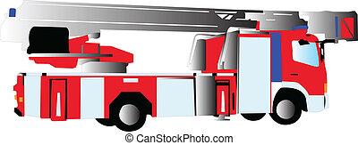 fire truck - vector