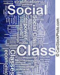 Social class background concept - Background concept...