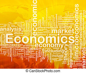 Economics background concept - Background concept wordcloud...