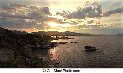Dawn on the coast