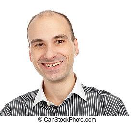 Closeup portrait of a happy young man
