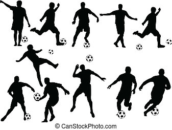 Football players collection - vector