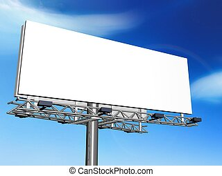 publicity - 3d illustration of Outdoor advertising