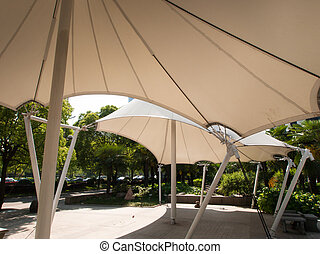 Shade structure - Contemporary shade structure in Shanghai,...