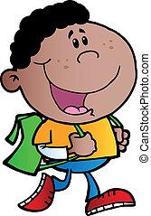 African American School Boy