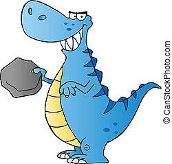 Happy Dinosaur Cartoon Character