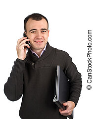 Young man calling on mobile phone