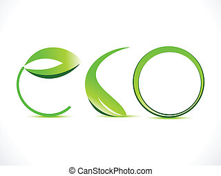 abstract green eco text