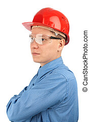 young caucasian manual worker