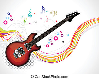 abstract guitar background vector illustration
