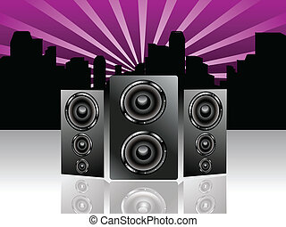 abstract sound background