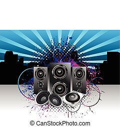 abstract night club music baground vector illustration