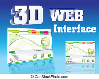 abstract 3d web interface