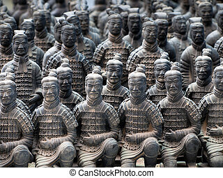 Terracotta Army - The Terracotta Army in Xian, China.