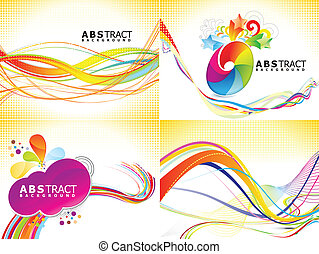 abstract multiple backgrounds