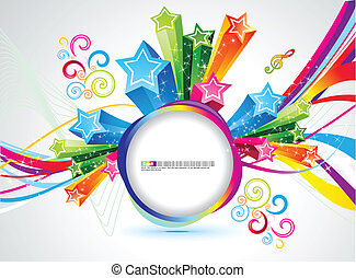abstract rainbow magic circle vector illustration
