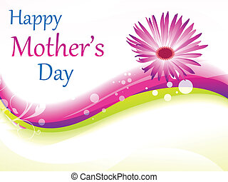 abstract pink mother day background vector illustration