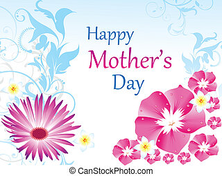 abstract floral mother day wallpaper vector illustration
