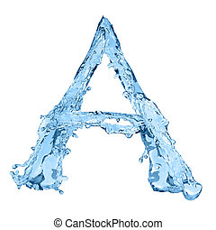 alphabet made of frozen water - the letter A