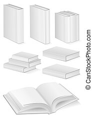 Set of books with hardcover - Vector illustration set of...