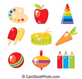 Set of childs pictures for a kindergarten