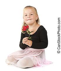 Preschool Ballerina with Rose