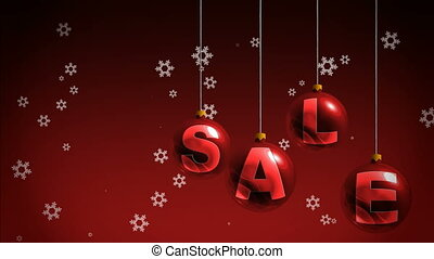 New Year sales motion background