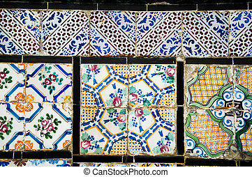 Tunisian Tiles - Texture of Tunisian tiles in different...