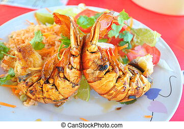 Mexican food - Picture of a plate with tasty crawfish