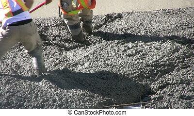 Working Fresh Cement