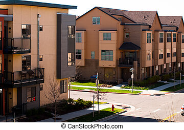Townhome - Contemporary townhomes at Belmar, Colorado