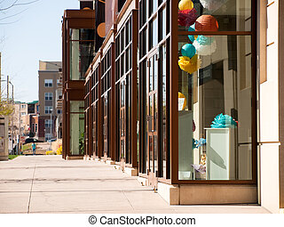 Storefront - Dtorefront of retail store in mixed use...