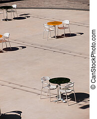 Outdoor cafe - View from the top of outdoor cafe in the...