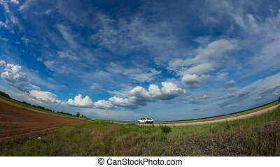Summer landscape - Panoramic nature landscape Fisheye lens...