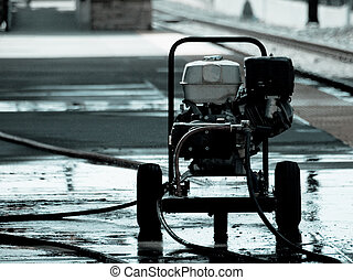 Pressure washer - high pressure washer.