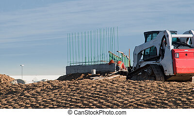 Construction site - Construction of the new bridge over the...