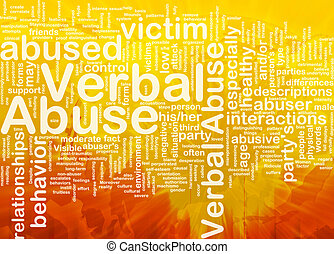 Verbal abuse background concept
