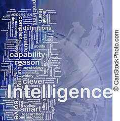 Intelligence background concept - Background concept...
