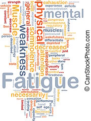 Fatigue background concept - Background concept wordcloud...