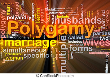 Polygamy background concept glowing - Background concept...