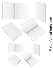 Set of books with softcover - Vector illustration set of...