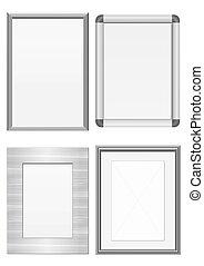 Illustration set of metal frames.