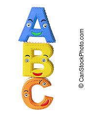 ABC Alphabets on White Background