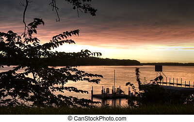Sunrise in OKoboji - Sunrise in Okoboji, Iowa