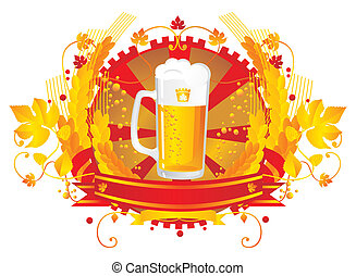 Beer mug in a vignette