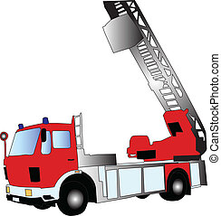 firetruck - vector - illustration of firetruck - vector