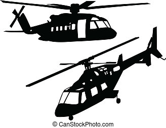 helicopters - vector - illustration of helicopters...