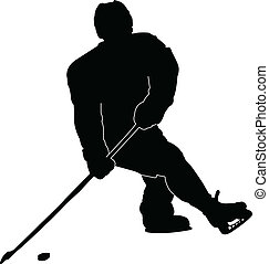 hockey player - vector - illustration of hockey player -...